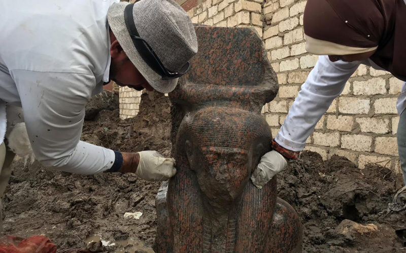 A Rare Find of a Statue of Ramesses II