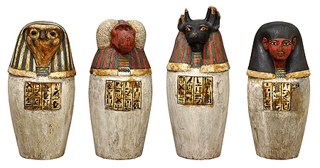 ancient-egyptian Canopic jars